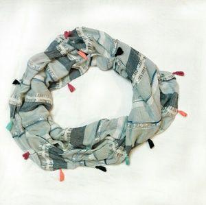 Betsy Johnson Infinity scarf w/tassels